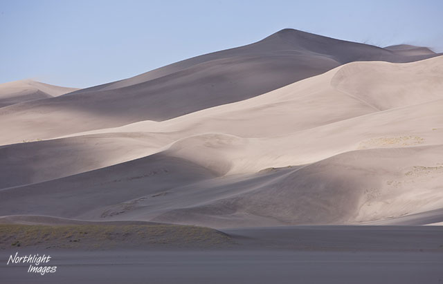 dunes and cloud shadows