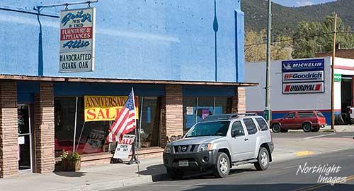 roadside US flag