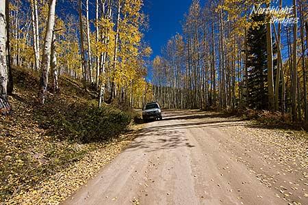car parked - ohio pass, gunnison, colorado