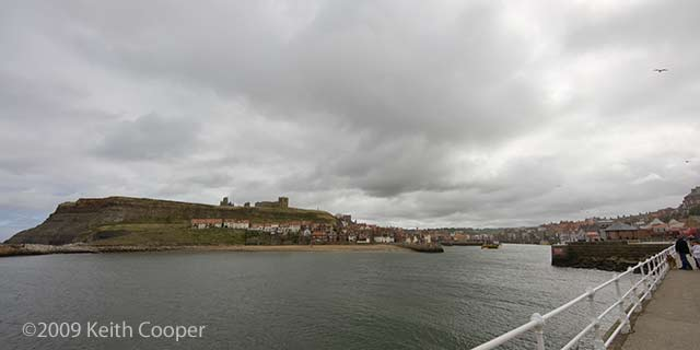 abbey and harbour, whitby