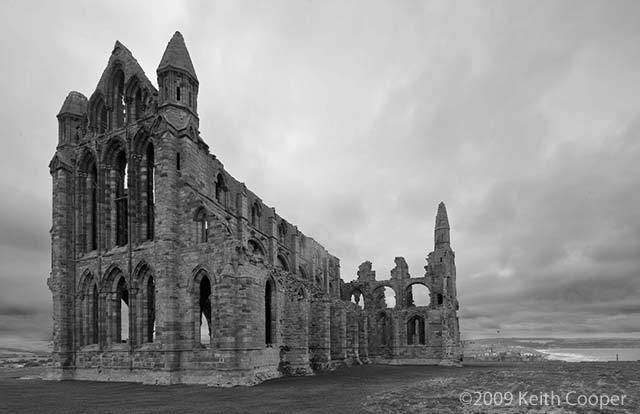 whitby abbey -south end