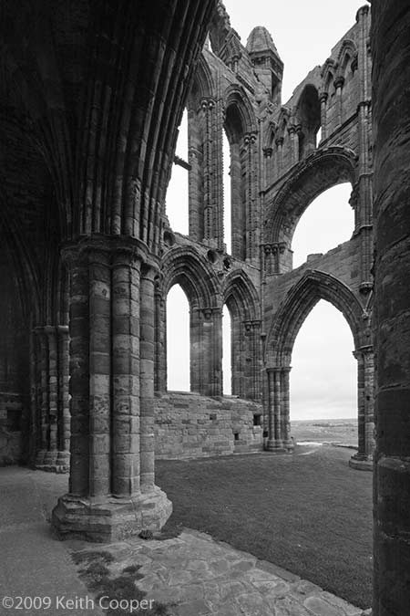 whitby abbey interior view