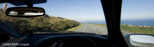 A1 route into Scotland