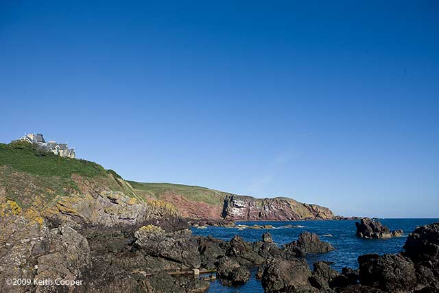 st abbs head from the harbour