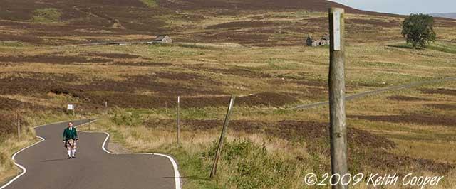 Scotsman in highland scene