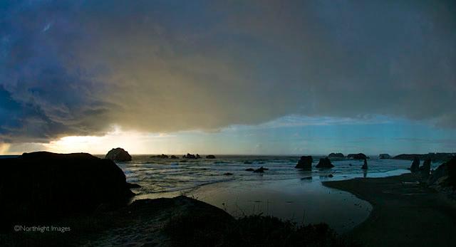 face rock rain storm
