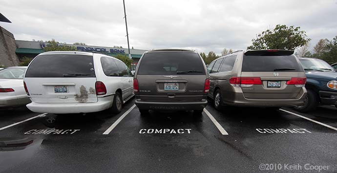 SUVs in compact spaces