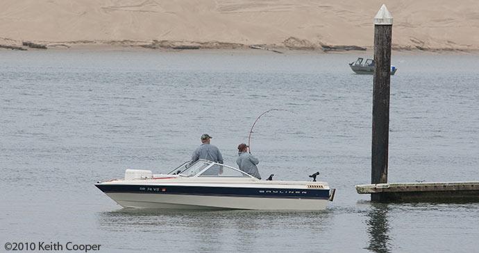 fish pulls boat