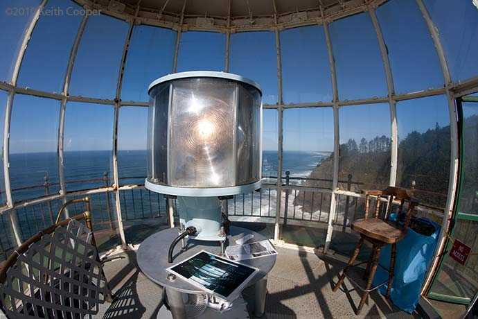 lamp in lighthouse - North Head, Cape Disappointment