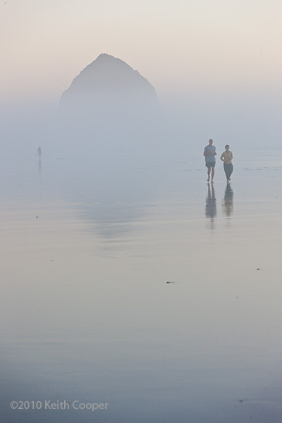 running on the beach - cannon beach