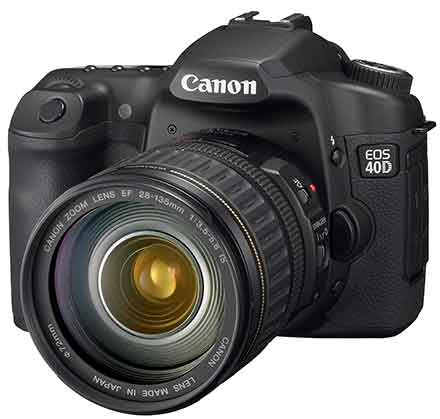 eos 40d front side view