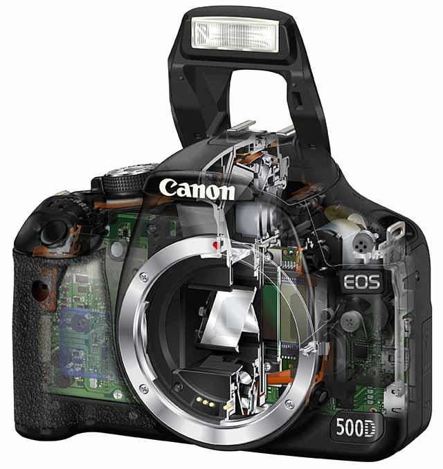 canon 500D internals