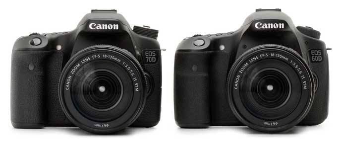 compare 60D and 70D
