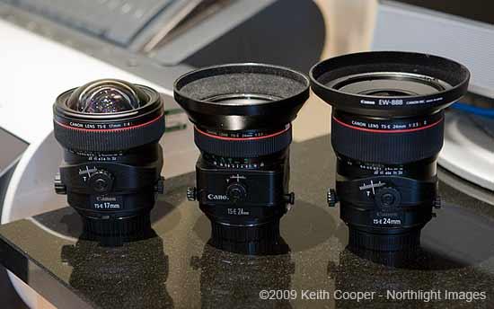 3 Canon TS-E lenses