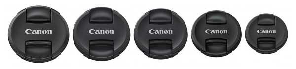 new range of lens caps for EF range
