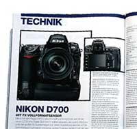 Nikon D700 info