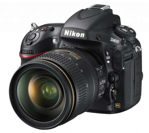 the Nikon D800 DSLR
