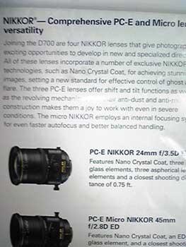 45mm T/S lens