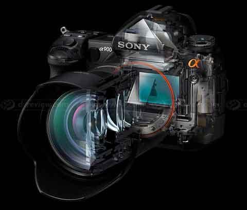 Sony A900 cutaway view