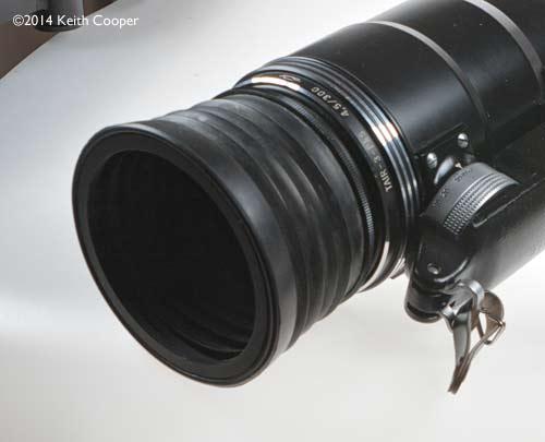 rubber lens hood