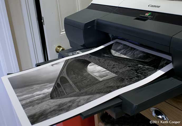 A2 sized B&W print