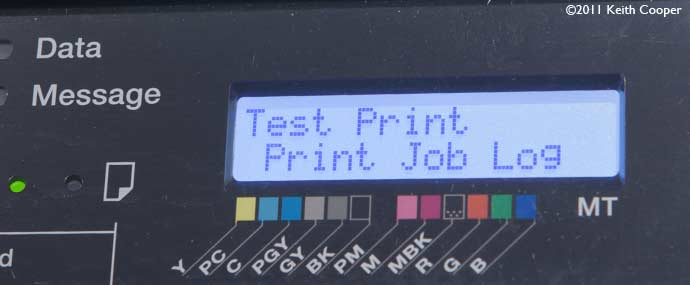 printing printer job log