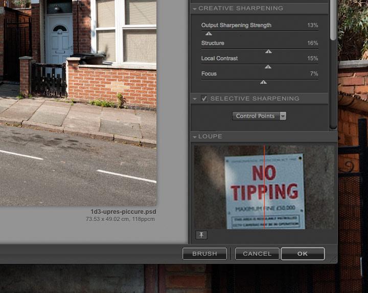 print sharpening settings for 1Ds mk3