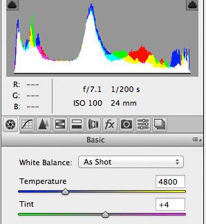 Histogram Canon 5Ds