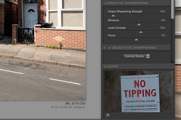 print sharpening settings 5Ds