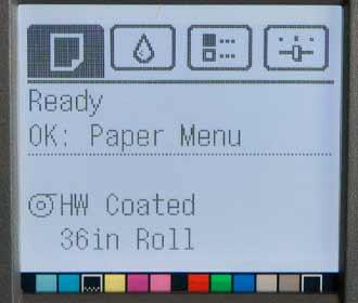 printer paper menu