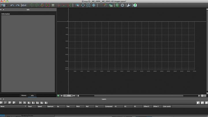 panorama editing panel
