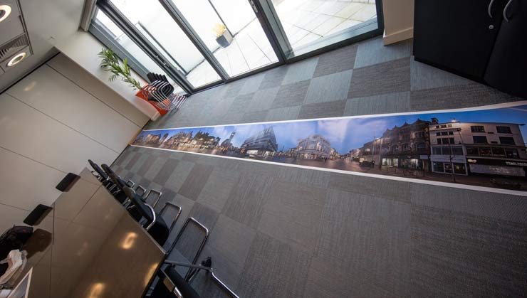 large panoramic print