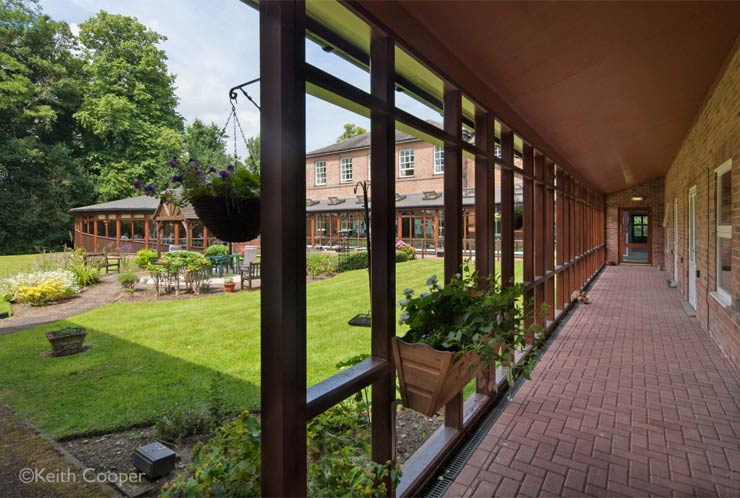 garden of a residential care home