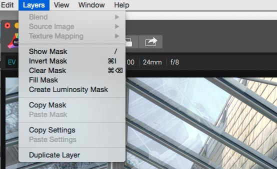 layers options