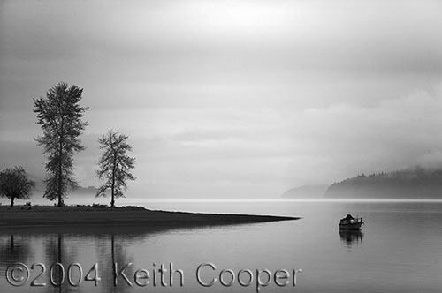 Hood Canal, Washington - from a color photograph