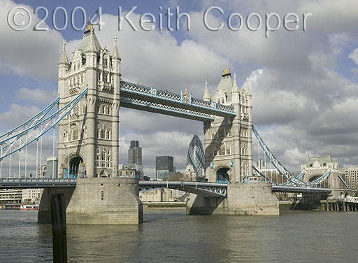 Tower bridge in color