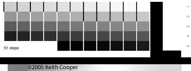 51 step greyscale ramp