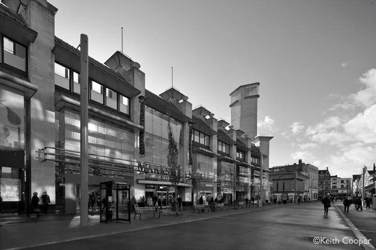 Humberstone Gate, Leicester, black and white version