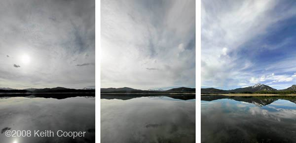 Dillon Lake, Colorado - triptych
