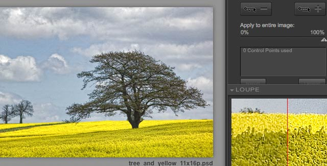 selective colour contrast enhancement
