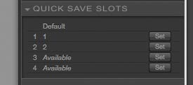 quick save options for filters