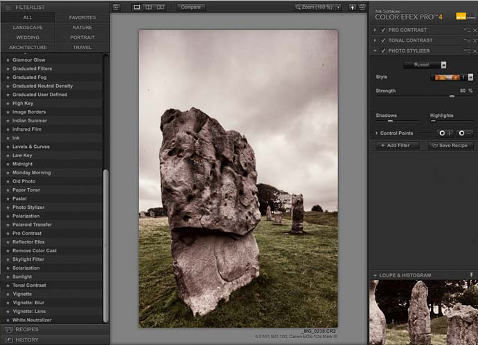 adding the photo stylizer filter