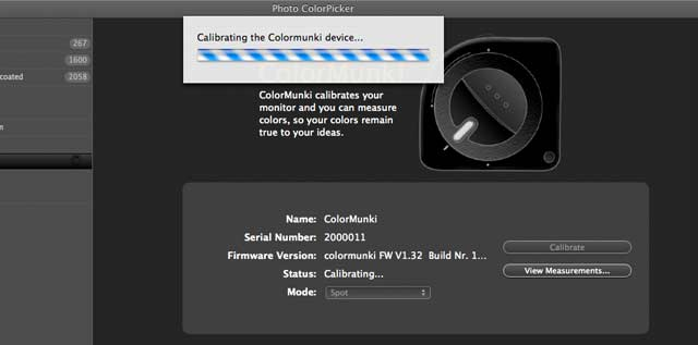 calibrating the colormunki