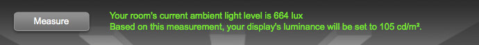 room light level measurement