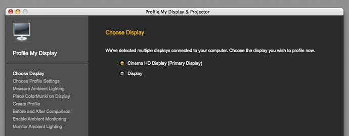 display choice for multiple display systems