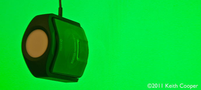 measuring green light from lcd display