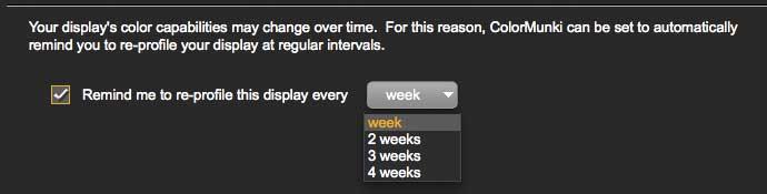 reprofiling reminder settings