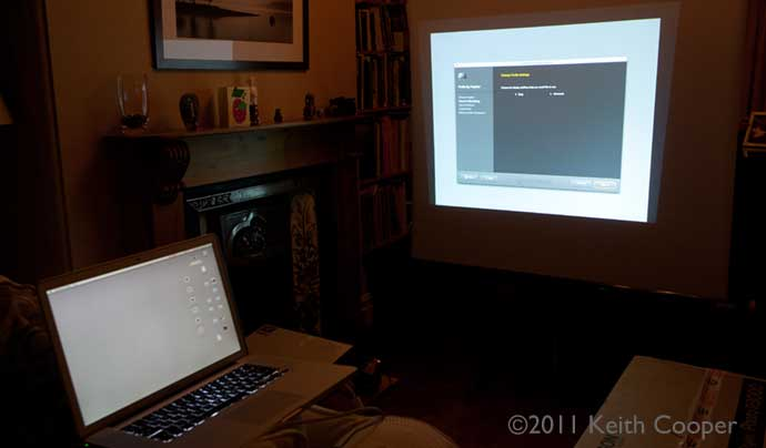 testing a projector