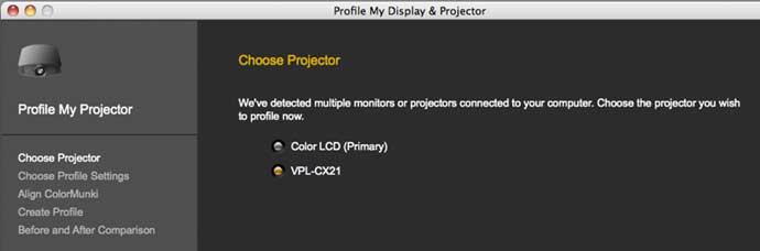 profiling projectors