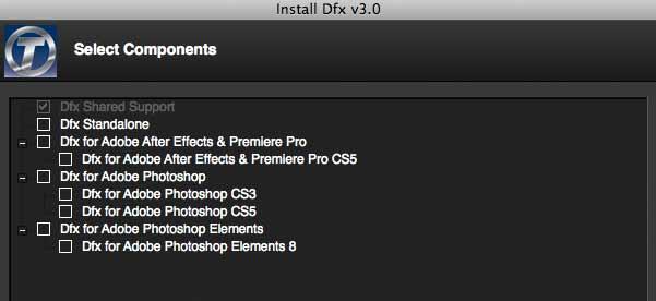 dfx3 install versions